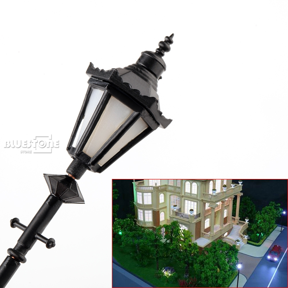 8pcs Model Railway LED  Lamps G Scale 1:25 Antique Street Model Lights Model Kits