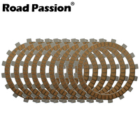 Road Passion 9pcs Motorcycle Clutch Friction Plates Kit For YAMAHA FZS600 YZF600R FZR600R FZR600 FZS YZF FZR 600 R