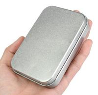 10pcs Lot Mini Tin Box Small Empty Silver Metal Storage Box Case Organizer For Money Coin