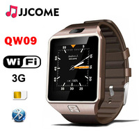 Original 3G WIFI QW09 Bluetooth Smart Watch Men SIM Card 4GB/512MB Real Pedometer Phone Watch Watches PK Q18 A1 DZ09 SmartWatch