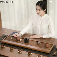 Chinese traditional Drainage solid wood tea set tray Rectangular Tea set tea set tea tray Household tea set accessories WSHYUFEI