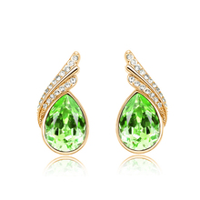 A39 Original Design Teardrop Crystal Bridal Silver Long Earrings for Women Imitated Gemstone Jewelry Wedding Jewelry