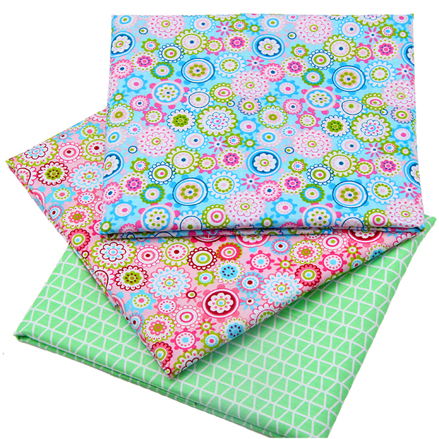 2016 New  Floral Style Patchwork Cotton Fabric Fat Quarters Sewing Patchwork Textile Fabric For Dog Clothes Bags 40x50cm J-3-17