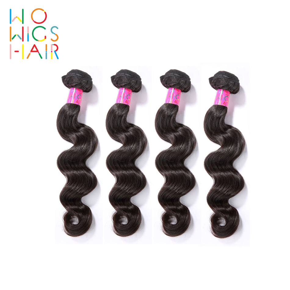 WoWigs Hair Burmese Loose Wave 100% Human Hair Weaving 4 PCS Remy Hair Free Shipping Natural Color