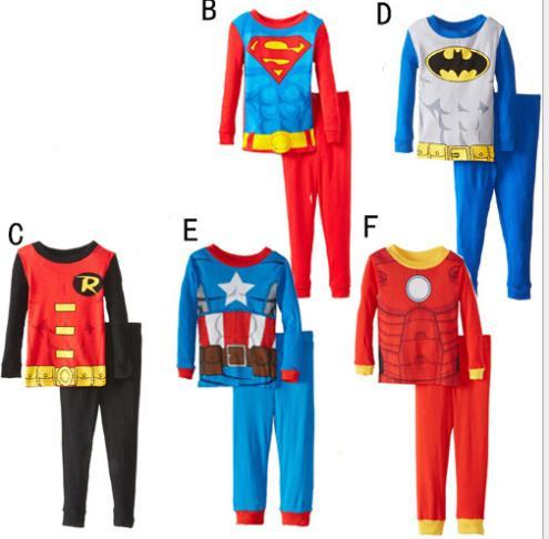 selezione premium a062a 0efa5 2015 New Captain America Superman Spiderman Batman Pigiami ...