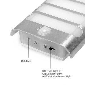 Image 5 - USB akumulator czujnik lampka nocna bezprzewodowy czujnik ruchu pir światło kinkiet lampa Auto On/Off dla korytarza ścieżka schody