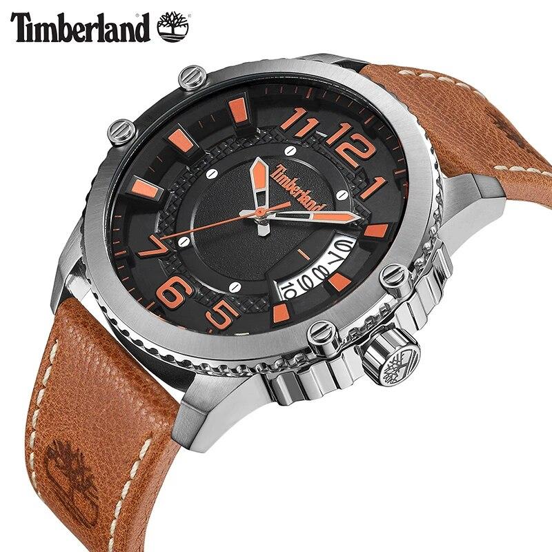 Casco Contratación vagón  Timberland 2018 New Arrivals Relógios de Quartzo Calendário Marrom Rebite  Couro de Luxo Da Marca de Aço Inoxidável Relógio Masculino TBL.15329| Relógios de quartzo| - AliExpress