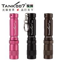 Hot sale TANK007 E09 Flashlight Keychain anti wolf mini torch LED Outdoor Travel climbing on foot waterproof light condensing