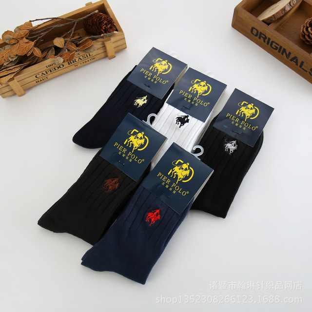 f8385043c0061 Marque mode hommes chaussettes dessin animé cheval coton doux printemps  automne pour homme solide décontracté sur