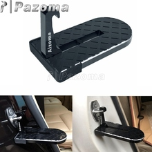 Hooking-Kits Roof-Rack Foot-Pedal Folding Easy-Access Doorstep Car Black for Jeep SUV