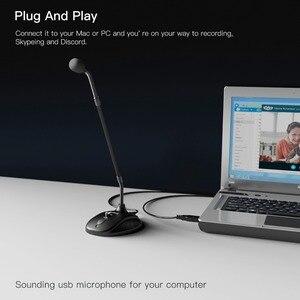 Image 2 - Fifine グースネックマイクため指導教室オンライン会議ビデオ社会アプリケーション usb スーツラップトップ pc 用高さ調節可能な