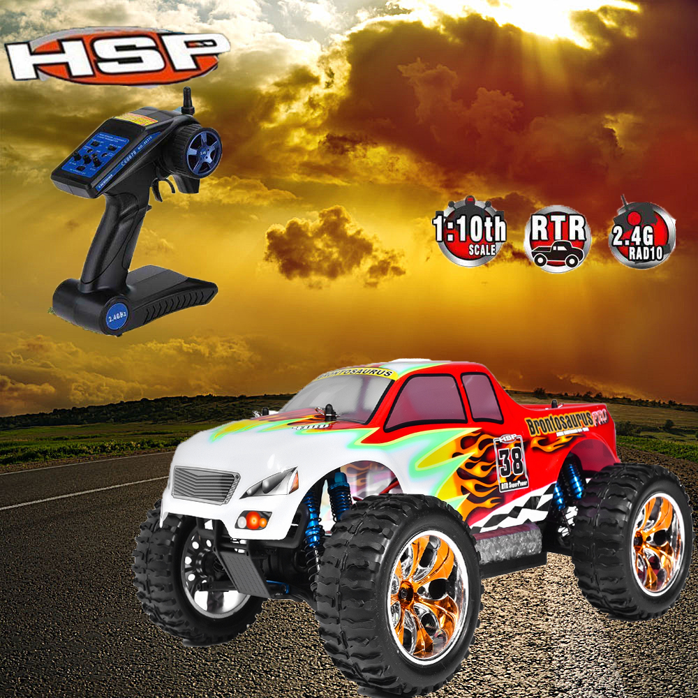 HSP Rc Car 1/10 Scale Model Off Road Monster Truck Remote Control Car 94111PRO Brushless With LIPO Battery 4wd Electric Car hsp rc car 1 10 scale off road monster truck 94111pro remote control car high speed hobby brushless motor 4wd electric car