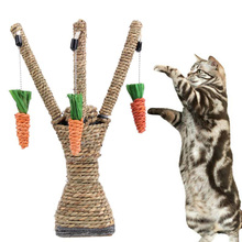 Cat Toys Sisal Rope Interactive Tree Tower Shelves Climbing Frame Scratching Post + Tooth Cleaning Chew Radish Pet Supplies