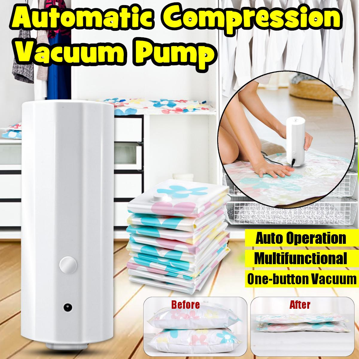 Portable Household Automatic Vacuum Sealer Pump Machine Electric Air Vacuum Pump For Clothes Quilt Food 220V