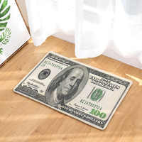 Character Currency Indoor Mat Dollars People Word Front Door Round Rugs Decor Living Room Large Coral Fleece Carpet Dropshipping
