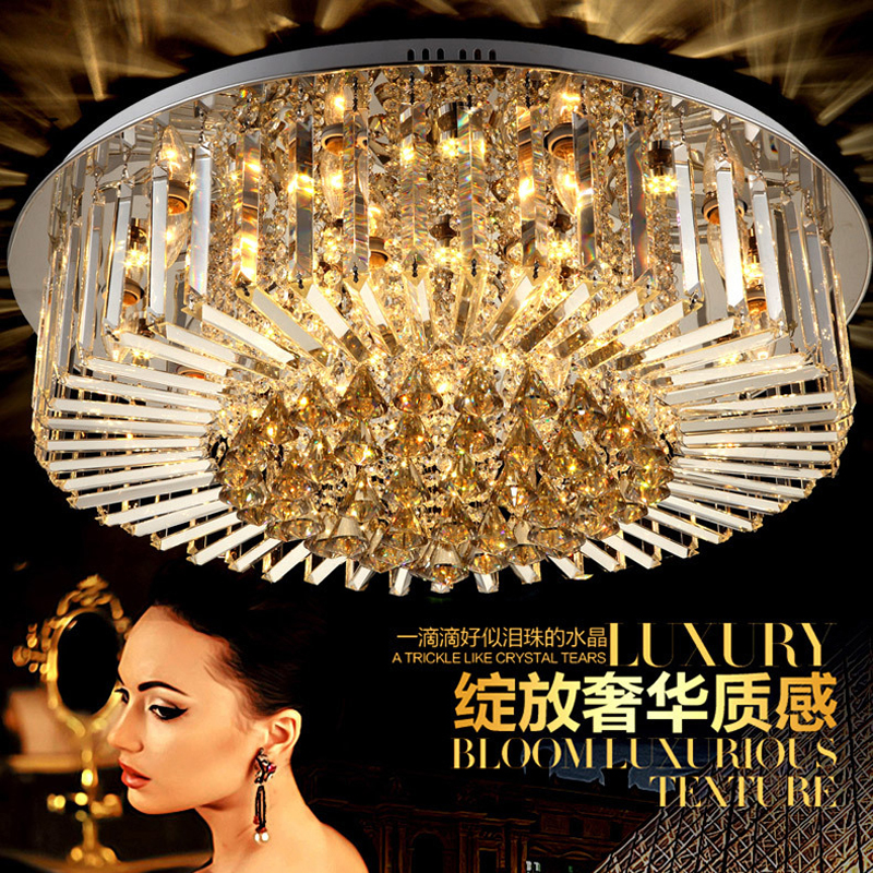 Lights & Lighting Modern Led Crystal Chandelier Circle Pendant Light Cristal Lustre Chandeliers Living Room Ceiling Lamp Led Dimming Fixtures For Sale Ceiling Lights