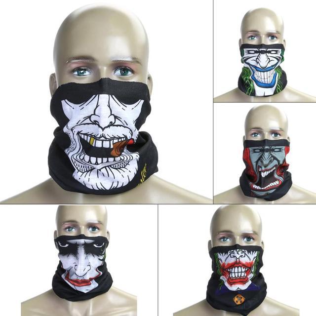 Windproof Skull Mouth Mask seamless magic bandanas outdoor sports washouts ride muffler scarf face mask