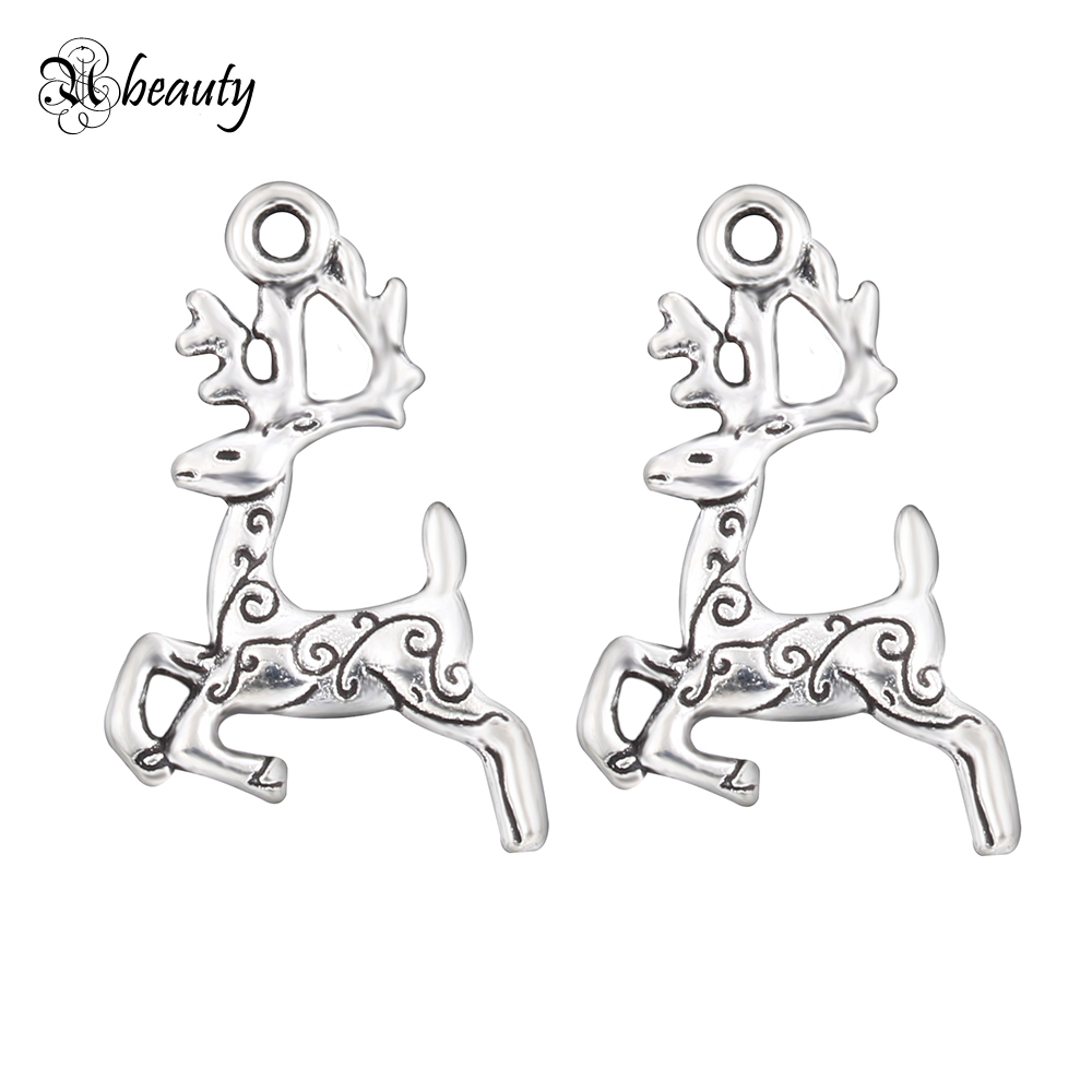 10pcs Animal Charms Silver Plated Hello Kitty Horse Unicorn Bird Owl Elephant Pendant Bracelet DIY Jewelry Charms Wholesale Lots