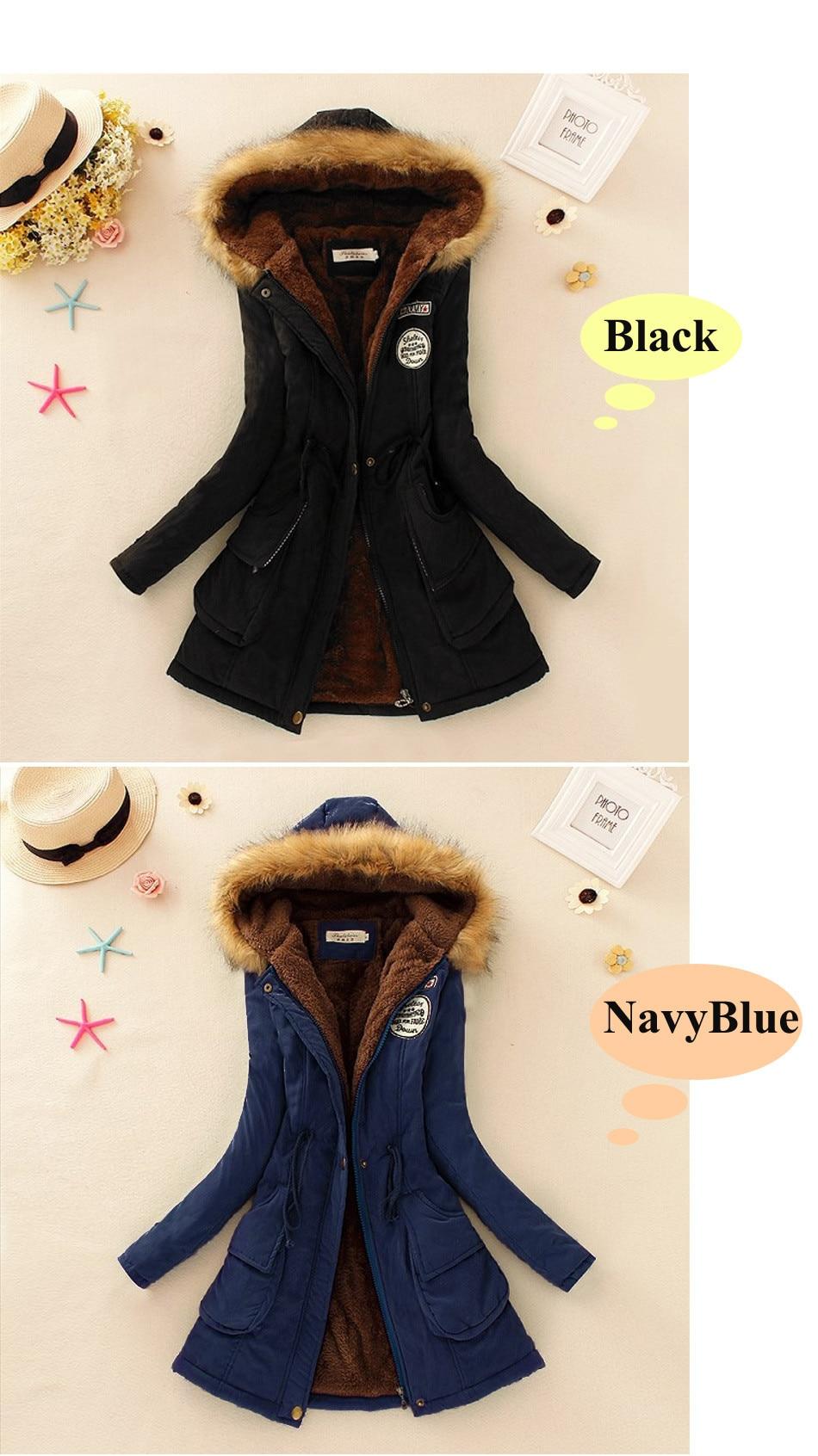 7394265b5a0 Autumn Warm Winter Jacket Women Fashion Women s Fur Collar Coats ...
