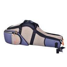 Tenor Saxophone Case Shoulder-Strap Flat-Backpack Soft Bb Inside-Bag Bags Washed Nylon