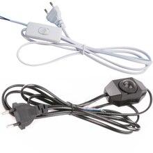 1,8 м диммер ЕС США штекер кабельный светильник модулятор лампа Линейный диммер контроллер для настольной лампы электрический провод AC110V 220 В