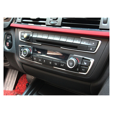 Car Interior Accessories Air Conditioning Control AC Panel Decoration Frame Sticker Decor Strip for BMW 1 2 3 Series Car Styling