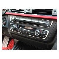 Car Interior Accessories Air Conditioning Control AC Panel Decoration Frame Sticker Decor Strip For BMW 1