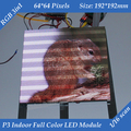 Free shipping 1/16 Scan 3in1 RGB P3 Indoor Full color Advertising media HD LED Display Module 192*192mm 64*64 pixels