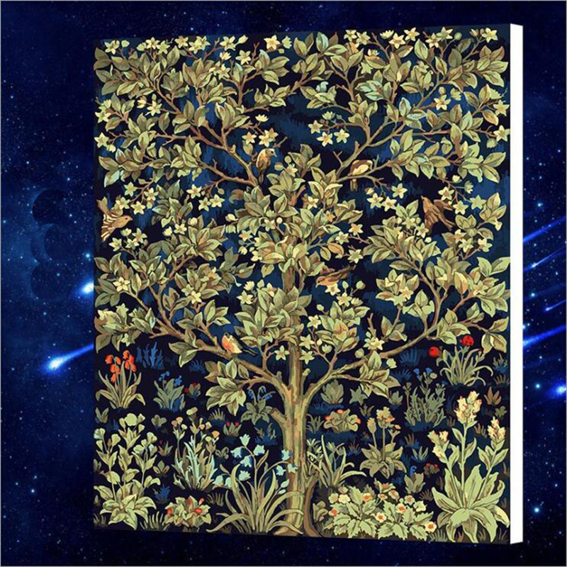 50x65cm 2017 new Gold Montreal Tree Scenery Painting By Numbers Oil Painting On Canvas Home Decor Wall Painting wall r492