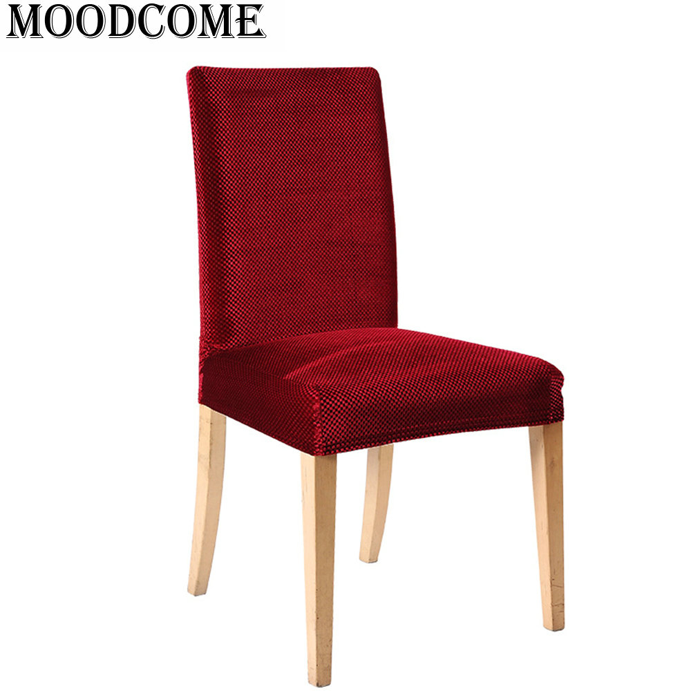Gold velvet chair cover elastic new arrival stoelhoezen eetkamer ...