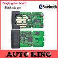Best Quality Single Green PCB board black TCS CDP+ Pro with Bluetooth cars Trucks Diagnostic tool 2015.1 software DHL FREE SHIP