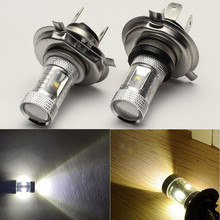 2pcs 6000K White H4 HB2 9003 30W LED DRL High/Low Diamond Fog Driving Light Bulbs