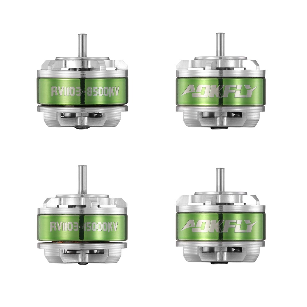 цена на New 1103 Brushless Motor AOKFLY Motor RV1103 8500KV/15000KV Drone Motor for QAV90 FPV Racing Quadcopter Multirotors 4pcs