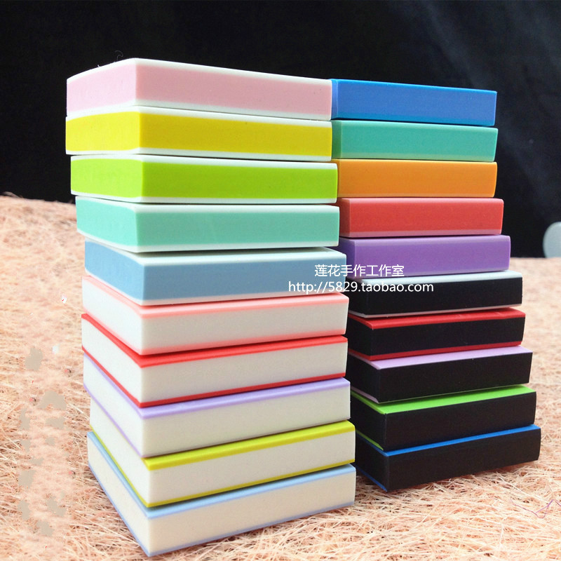 DIY Professional Engraving Rubber Stamp Rubber Brick Sandwich Candy Color Rubber Stamps for Scrapbooking free shipping
