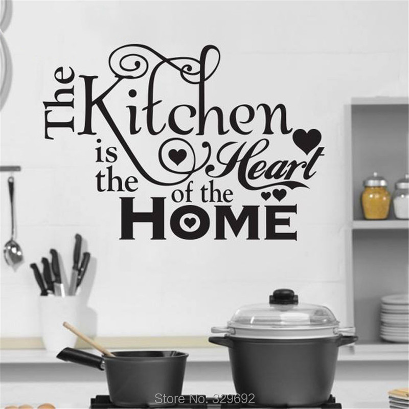 Cocina casa de amor pared de vinilo pegatinas decoración Stikers para decoración