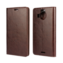 Flip Leather Mobile Phone Case for Microsoft Nokia Lumia 640 640XL Lumia950 950XL Real Genuine leather Wallet Cover Card Slot чехлы накладки для телефонов кпк mofi lumia640xl 640xl 640xl