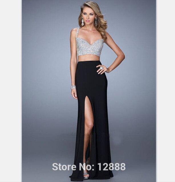 Sapphire Strapless Prom Dress