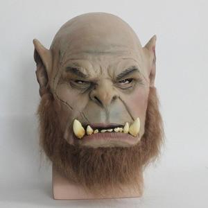 Image 3 - 2016 Movie World of Warcraft Maschera Ogrim Doomhammer Mascherina Del Partito di Halloween Maschera In Lattice