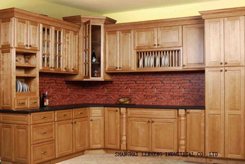 Antique style kitchen cabinets(LH-SW007)