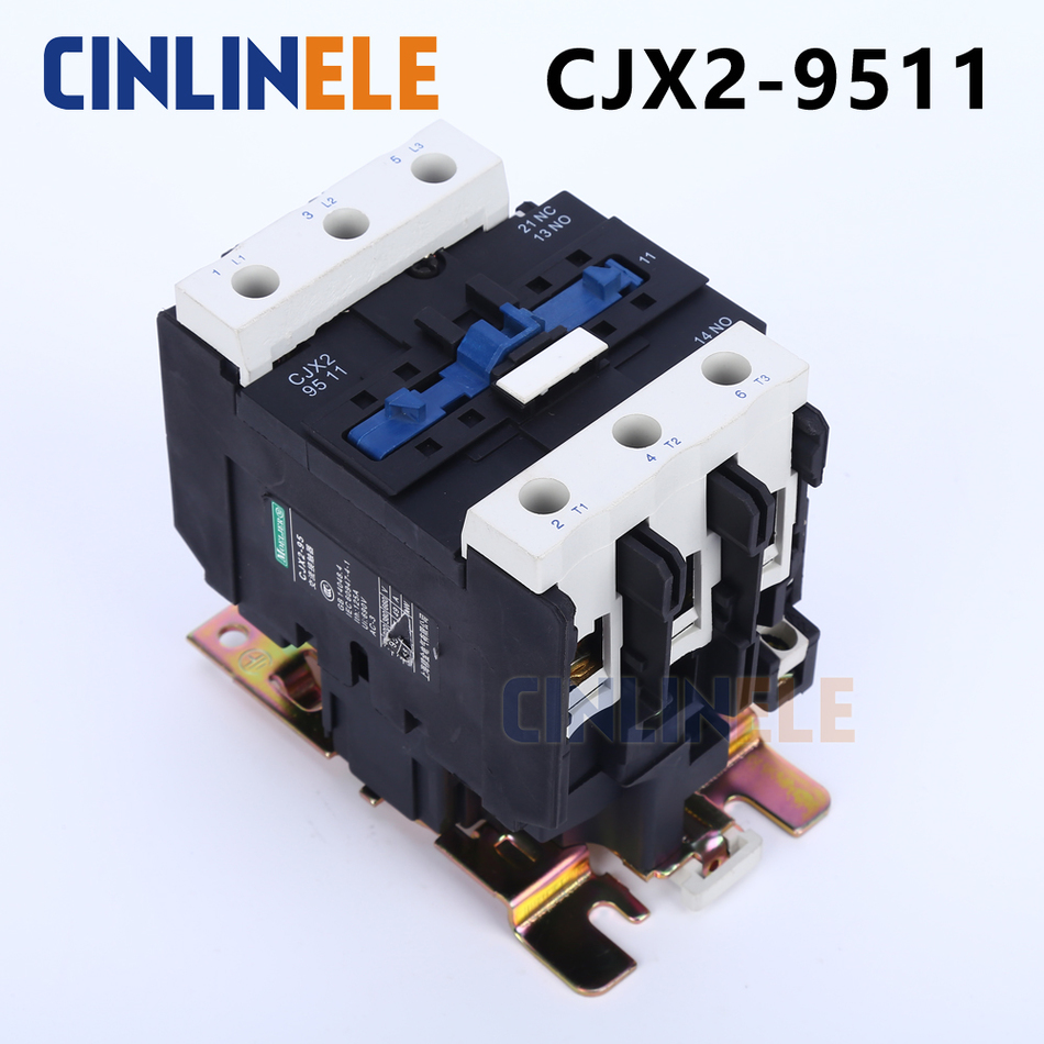 Contactor CJX2-9511 80A switches LC1 AC contactor voltage 380V 220V 110V Use with float switch cjx2 lc1 1210 25a 220v 660v ac contactor black white
