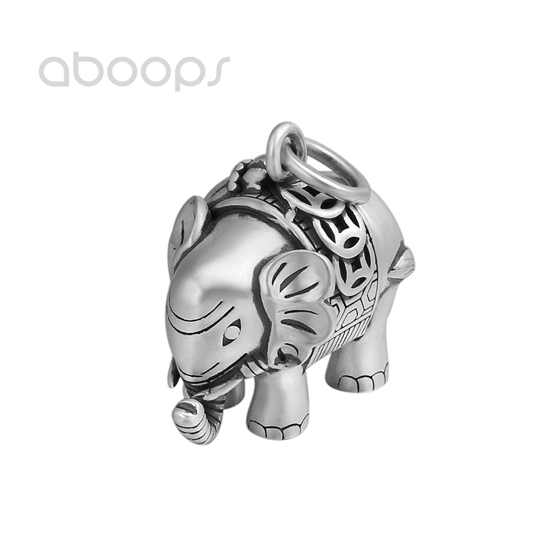 Винтажная Подвеска из стерлингового серебра 990 пробы с изображением слона для мужчин и женщин Бесплатная доставка