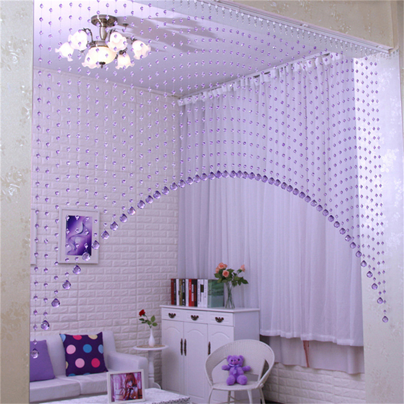 3 colors One Set Arch Shape Acrylic Crystal Glass Beads Curtains Window Door Crystal Curtain for Doors/Living Room