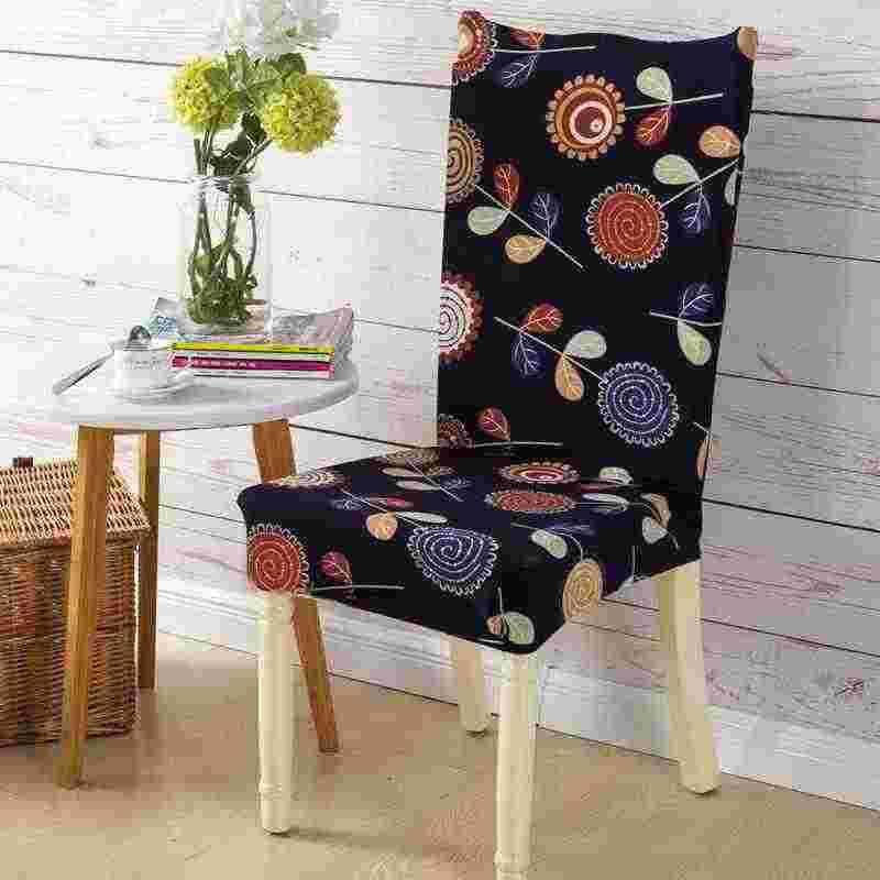 Projeto Impresso Tampa Da Cadeira Pastoral-instalação Fácil Elástico Tampa Da Cadeira Do Estiramento Verão Fina 100% Casos de Poliéster Cadeira Da Sala de Jantar