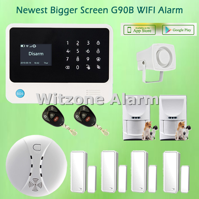 Android IOS Smartphone APP Control WIFI GSM Alarm G90B Pet Friendly Home Alarm System, Free Shipping детская игрушка new wifi ios