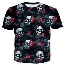 Jumeast 3D Elephant Printed Men/women T-Shirts Cool Skull Pattern Summer O-neck Hip Hop Streetwear Short Sleeves Color Flowers