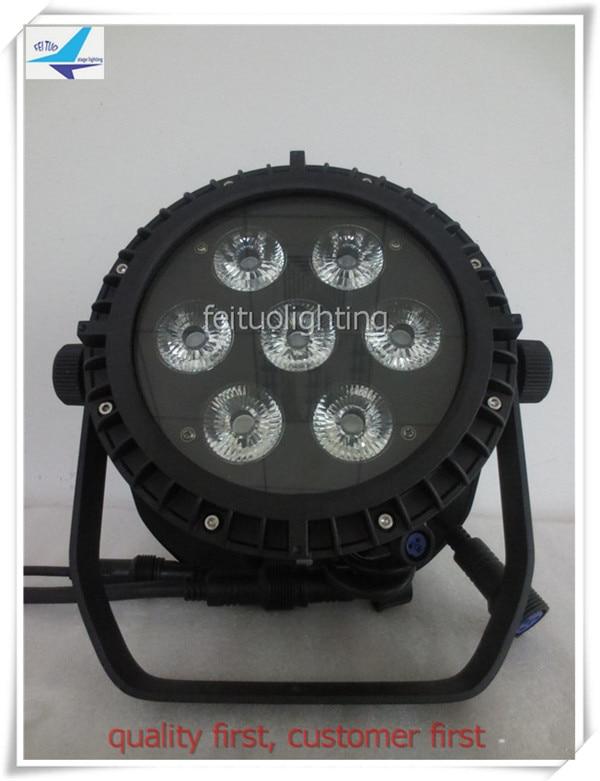 A- 6pcs with fly case ip65 dmx par led 7x18w rgbwa uv slim par lights 6in1 outdoor led Par 64 light