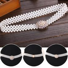 12pcs/lot Luxury Five Rows Pearls Waist Belts Rhinestone Beading Waistband Womens Outdoor Dress Up Decoration os868
