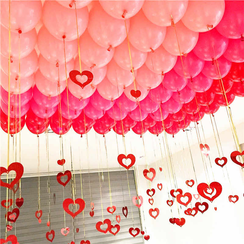 5pcs 12inch 2.2g Gold Latex Balloons Heart Love Wedding Air Ball Happy Birthday Party Decorations Kid Adult Foil Helium Balloons