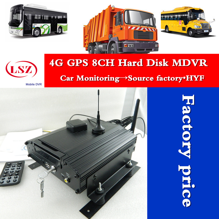 factory 8Channel GPS 4G real time Full HD 720P AHDhard disk Vehicle Mini Mobile DVR Car new cmsv6 hdd MDVR