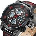 Мужские Часы Лучший Бренд Класса Люкс AMST Военная Кварцевые Часы Погружения 50 М Кожаный Ремешок СВЕТОДИОДНЫЕ электронные Часы reloj hombre Relógio Masculino